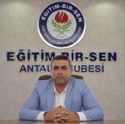 Eğitim Bir-Sen Antalya Şubesi'nden alan değişikliği çağrısı