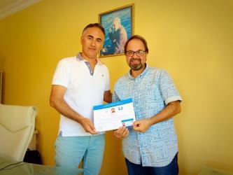 Gazeteci Öncü'ye Mavi Bayrak sertifikası