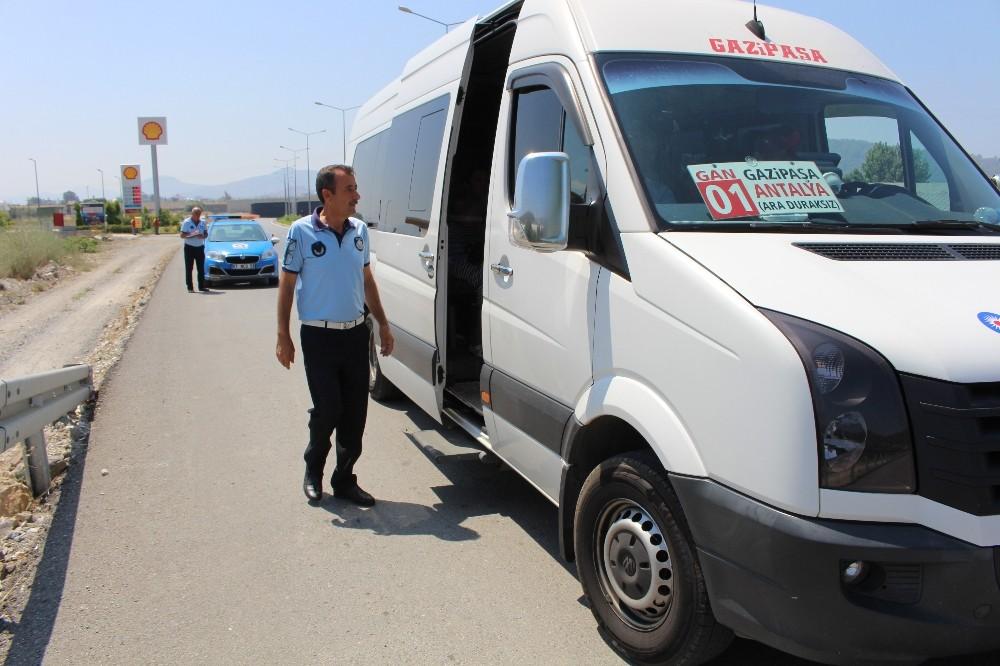 Gazipaşa'da klimasına açmayan otobüs şoförlerine ceza