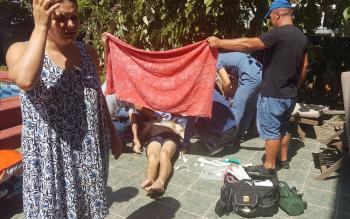 Havuza giren Rus turist boğulma tehlikesi geçirdi