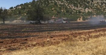 Korkuteli'nde anız yangını