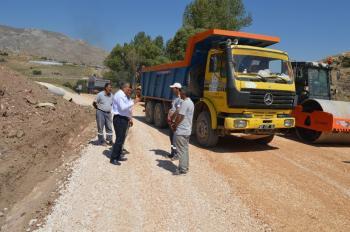 Korkuteli'nde asfalt hazırlığı