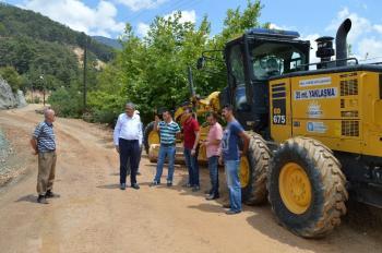 Kumluca Altınyaka-Çaltı yolu asfalta hazırlanıyor