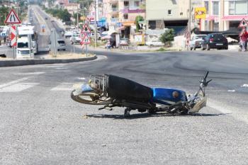 Manavgat'ta motosiklet kazası: 1 yaralı