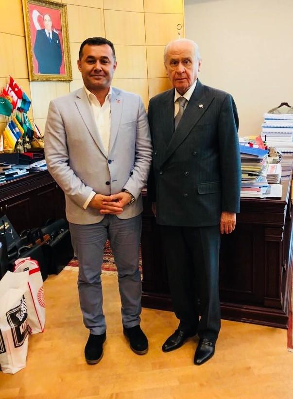 MHP Lideri Bahçeli, Başkan Yücel'i kabul etti