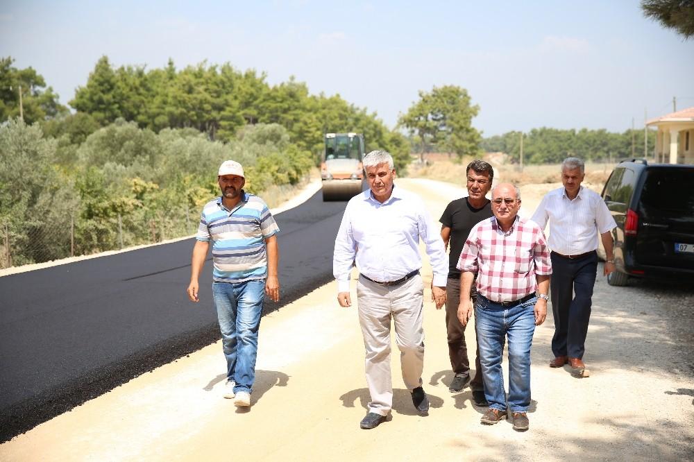 Serik Belediyesi'nden asfaltlama çalışması