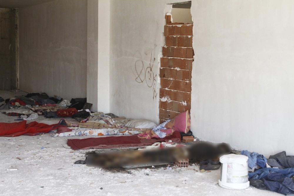 Terk edilmiş iş merkezi inşaatında erkek cesedi bulundu