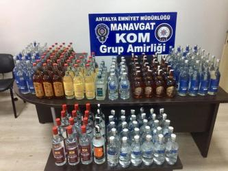 Tur teknesinde 170 şişe kaçak içki ele geçirildi