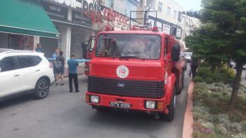 Turistik caddede korkutan yangın