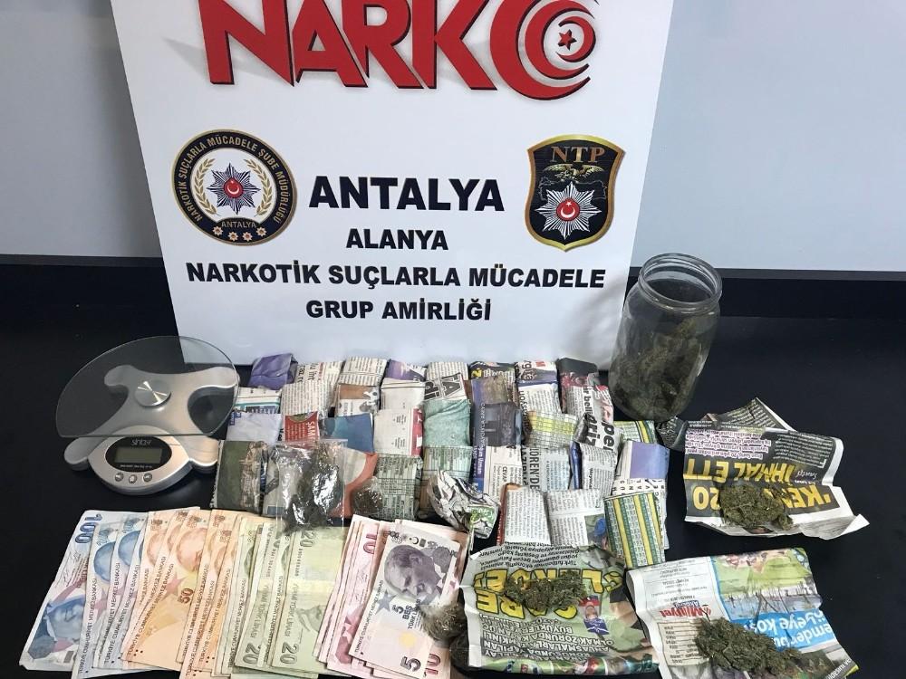 Alanya'da uyuşturucu operasyonuna 1 tutuklama