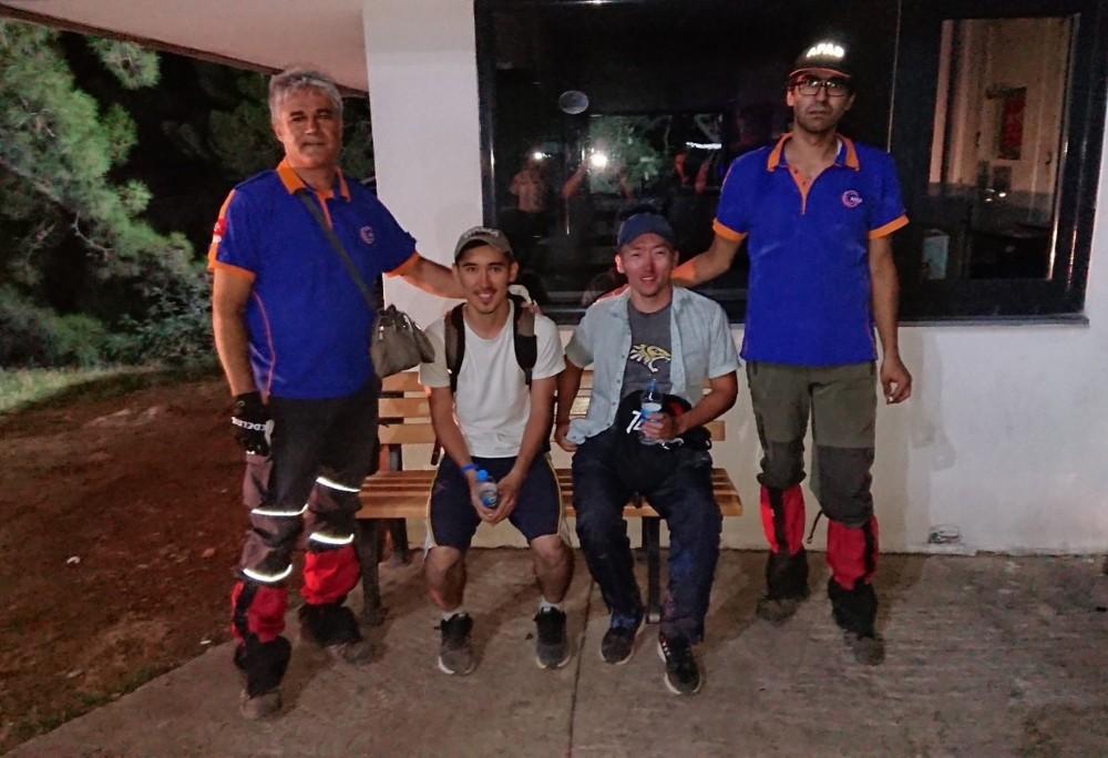Dağda mahsur kalan Kazak turistleri AFAD kurtardı