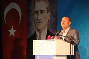 """Dışişleri Bakanı Çavuşoğlu: """"Türk milleti tehdide boyun eğmez"""""""