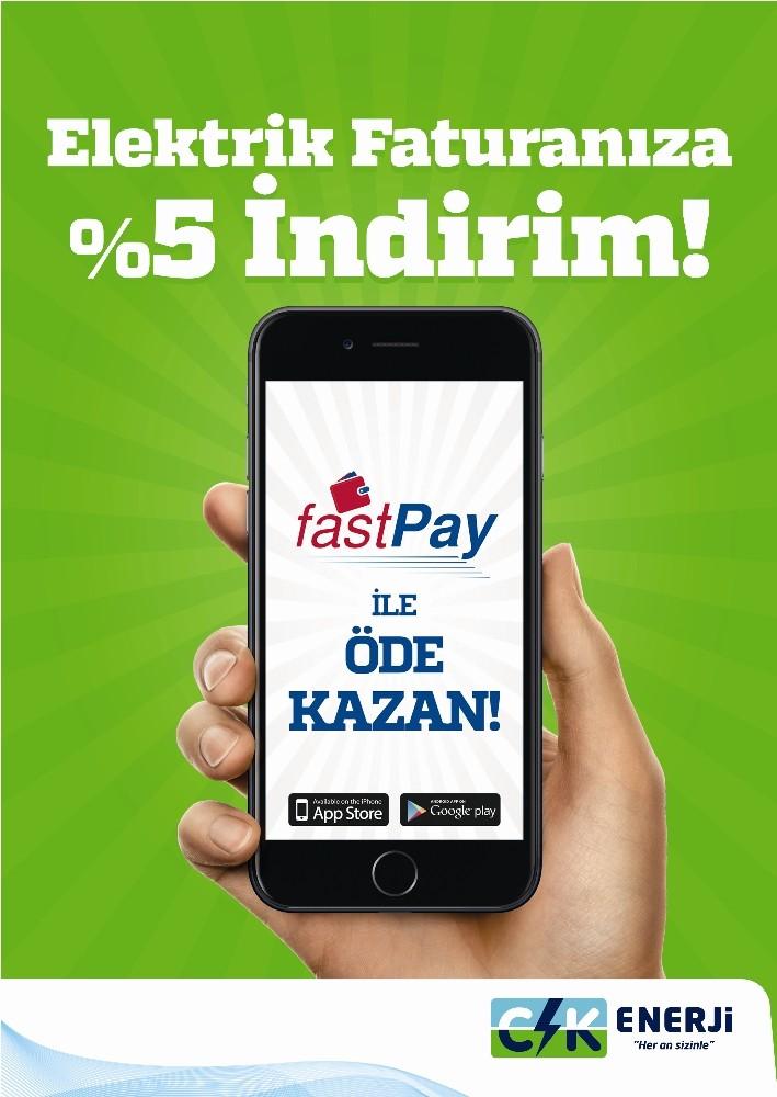 Elektrik faturasını fastPay ile ödeyen tüketiciye 5'lik avantaj sağlanıyor