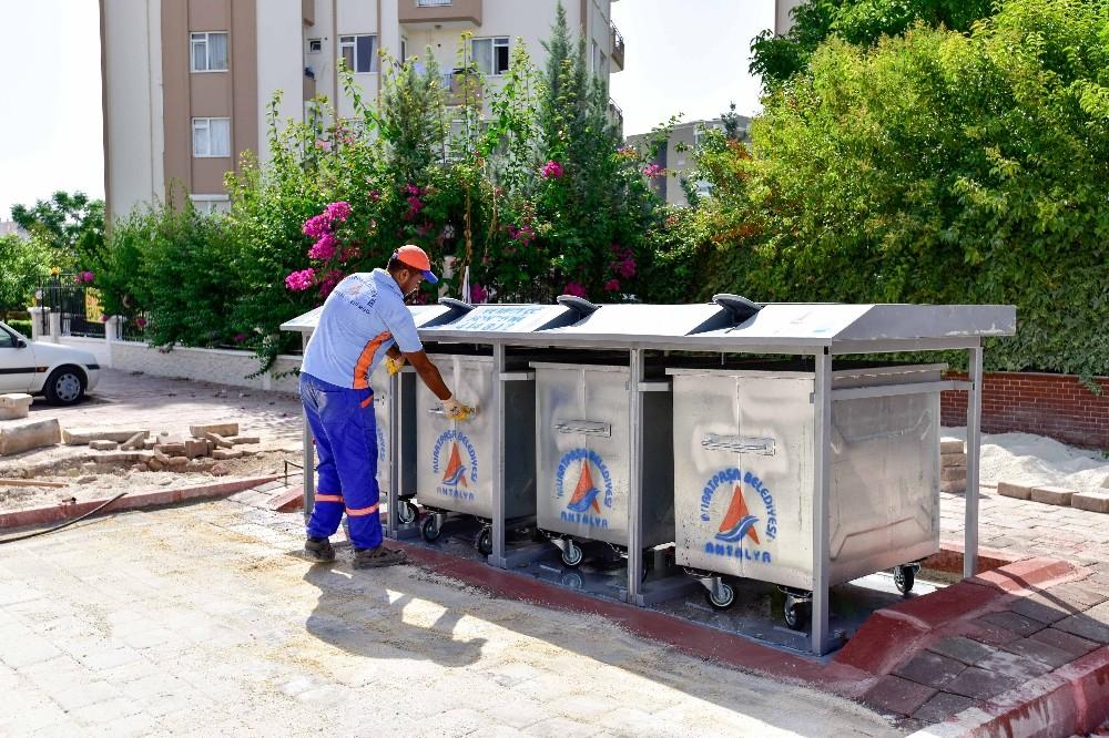 Muratpaşa'da 3 bin 703 konteyner yeraltında