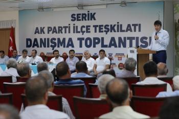 Türel, Serik İlçe Danışma toplantısına katıldı