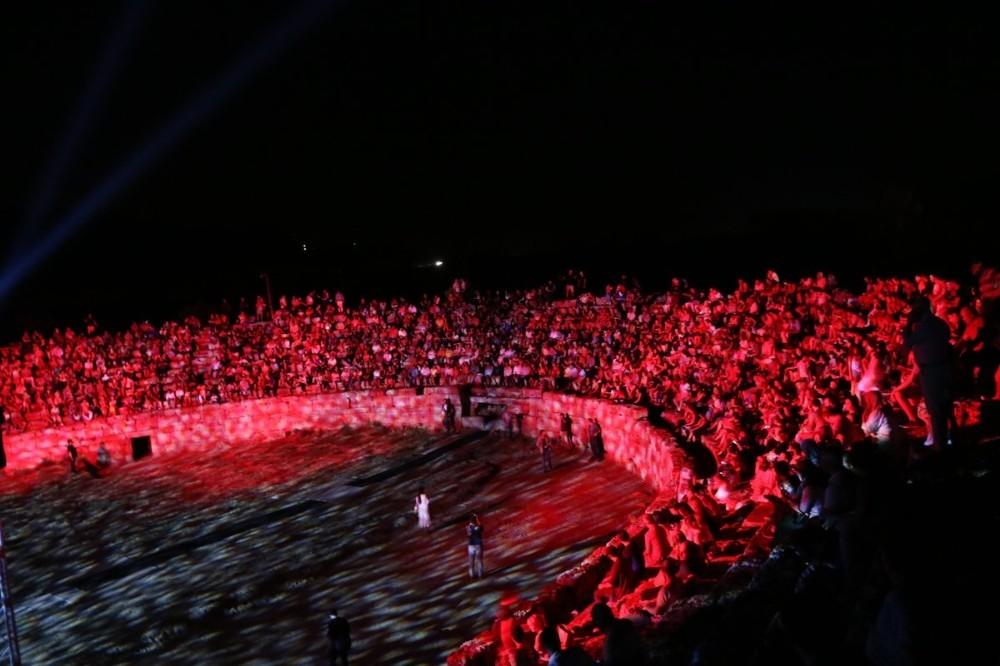 1800 yıllık antik stadyum dans gösterisine ev sahipliği yaptı