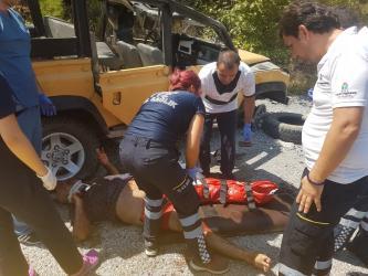 Alanya'da takla attan cipte ölü sayısı 2'ye yükseldi