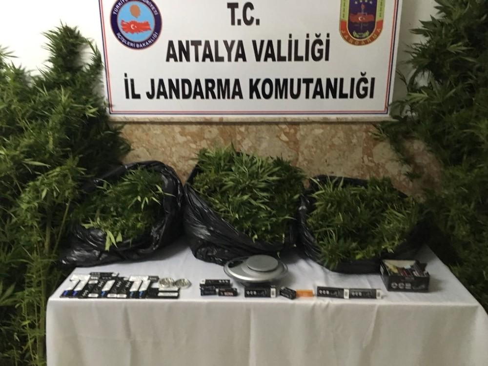 Antalya'da 26,5 kilo esrar ele geçirildi