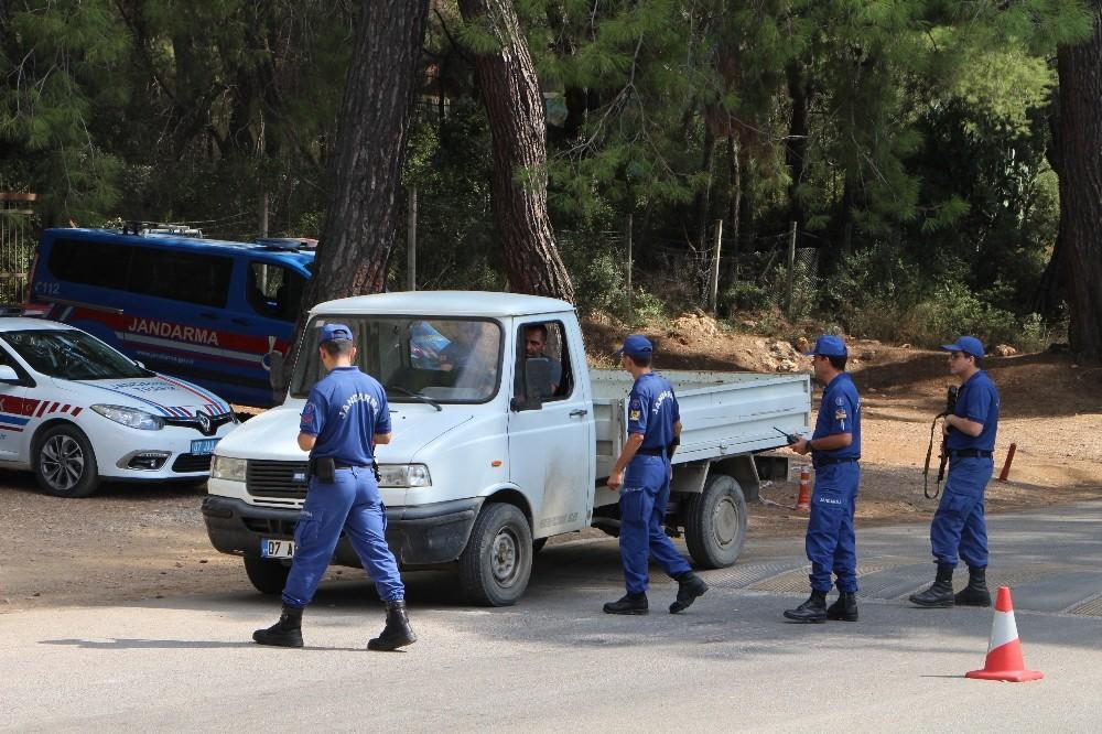 Antalya'da jandarma İçişleri Bakanının sözleri ile harekete geçti