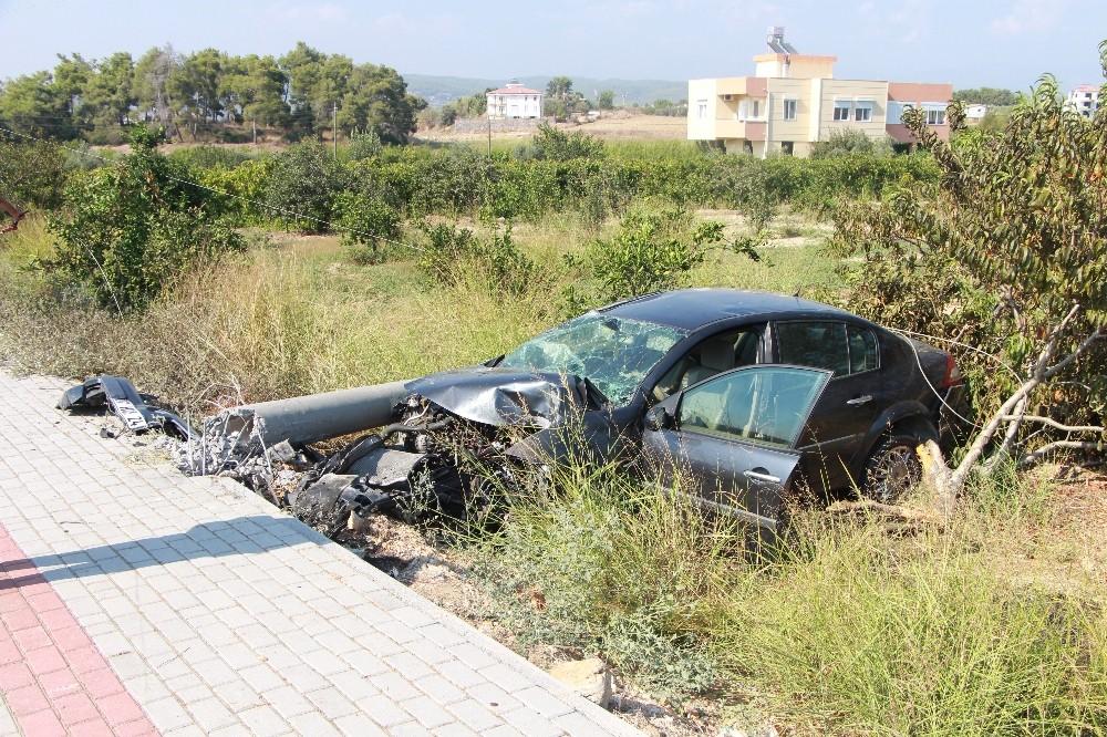 Antalya'da kaza ucuz atlatıldı