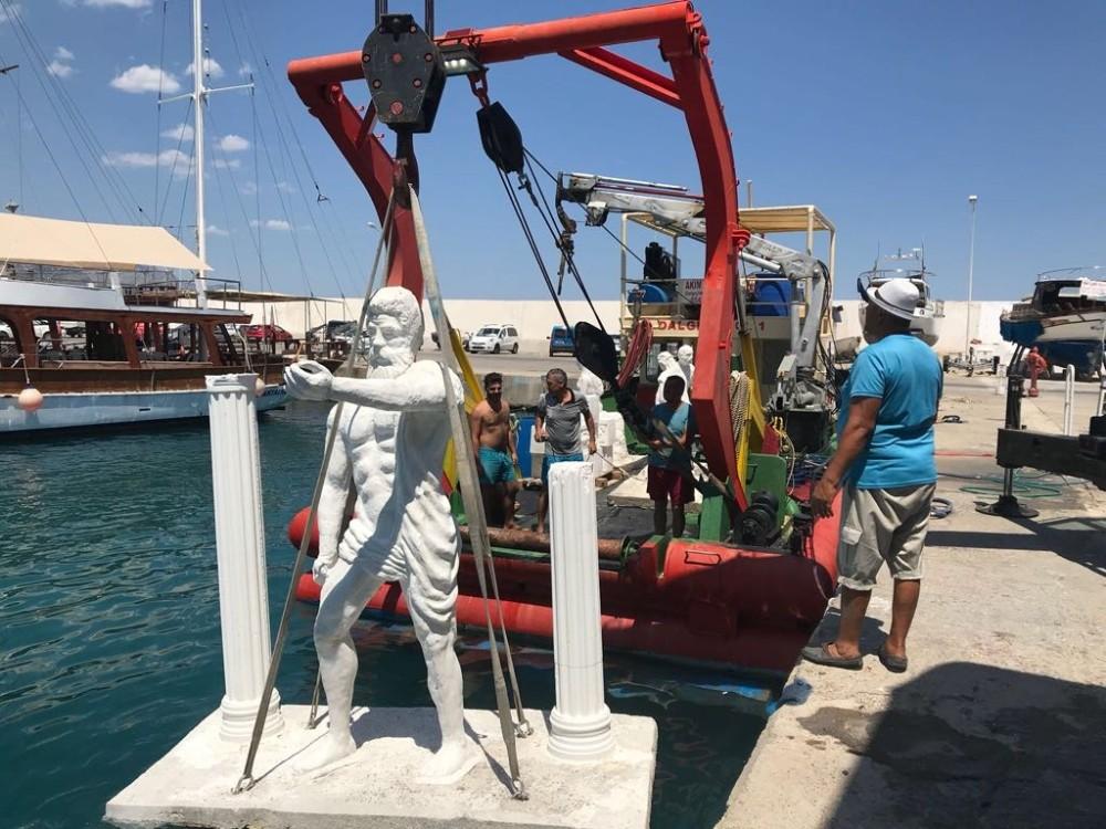 """Antalya'da """"Sualtı heykel Müzesi"""" hayata geçirildi"""
