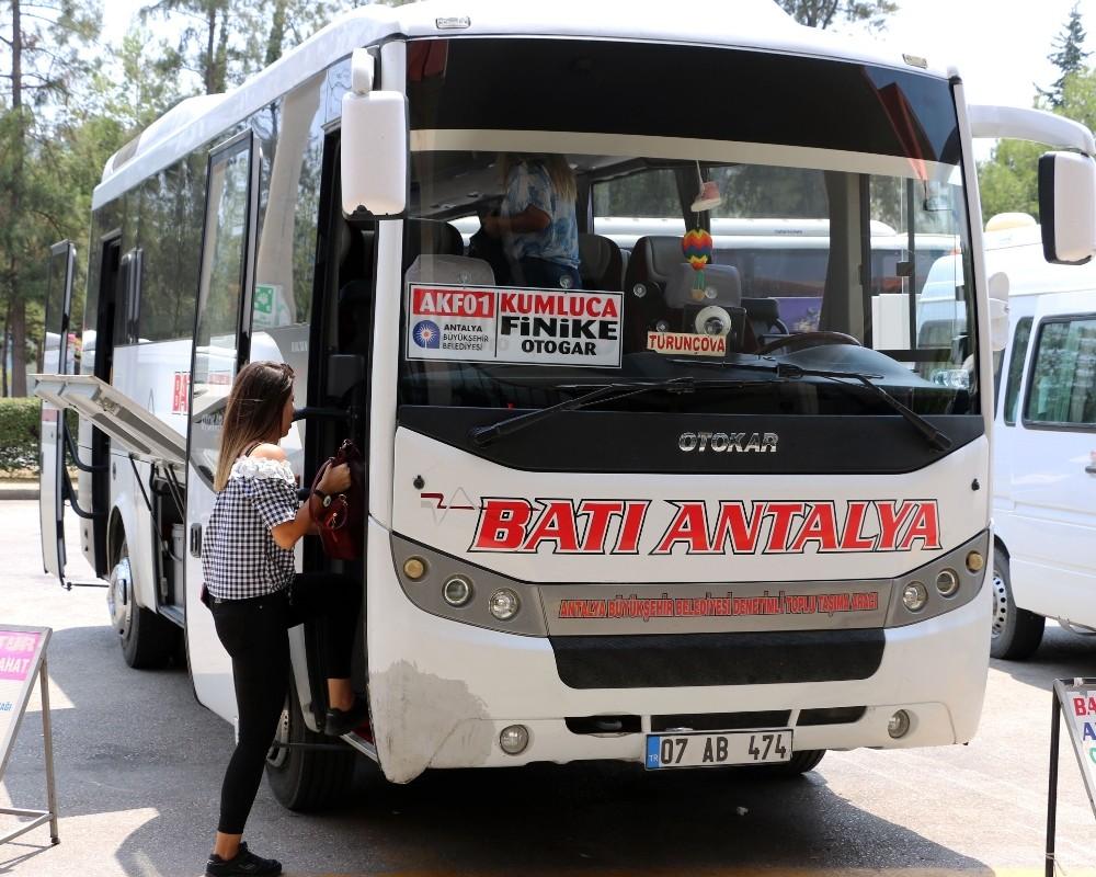 Antalya'da toplu ulaşım ile gidilemeyen yer kalmıyor