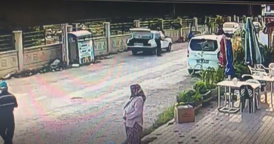 Antalya'daki cinayet ve intihar güvenlik kamerasında