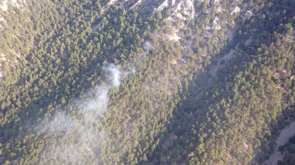 Antalya'daki orman yangınını söndürme çalışmaları devam ediyor