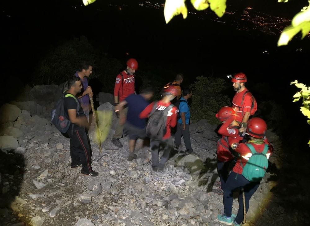 Cebel-i Reis Dağı'nda kaybolan 6 amatör dağcı AKUT tarafından kurtarıldı