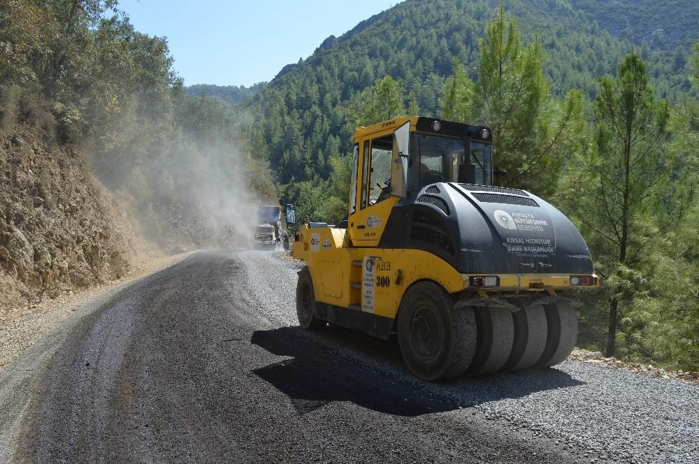 Gazipaşa'da 23 kilometrelik asfalt çalışması