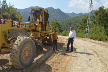 Gündoğmuş'ta iki mahallede asfalt hazırlığı