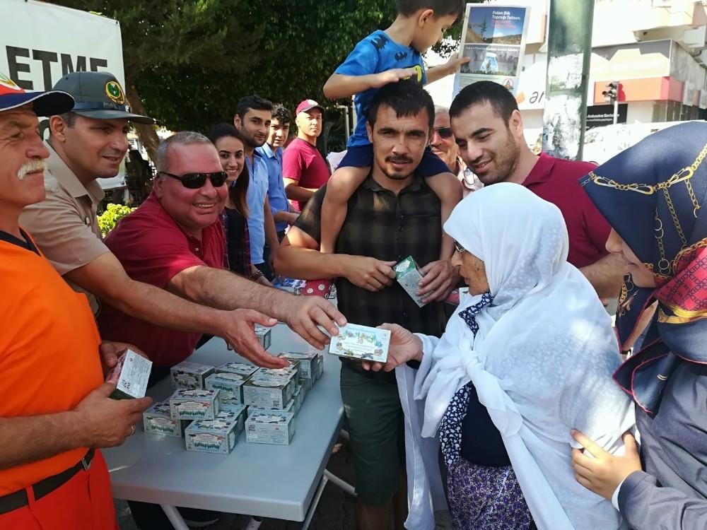 Kumluca Orman İşletme Müdürlüğü'nden çay dağıtımı