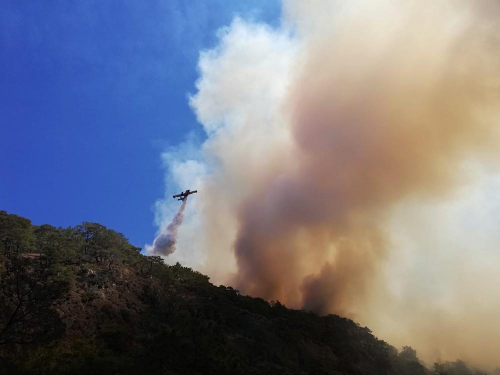 Kumluca'daki orman yangını