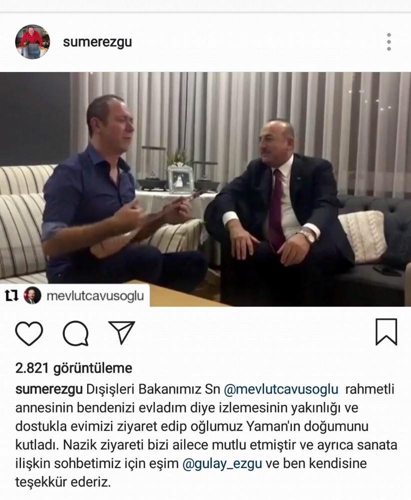 Sümer Ezgü'den Bakan Çavuşoğlu'na Yörük havası