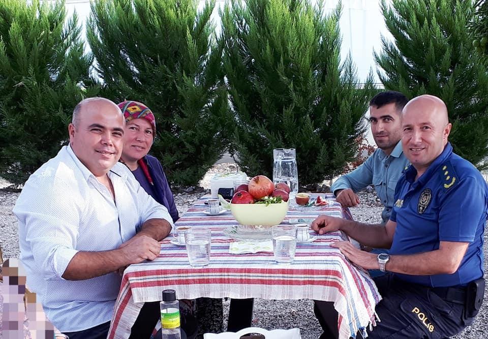 Aksu İlçe Emniyet Müdürü Deniz Yılmaz'dan çiftçilere ziyaret