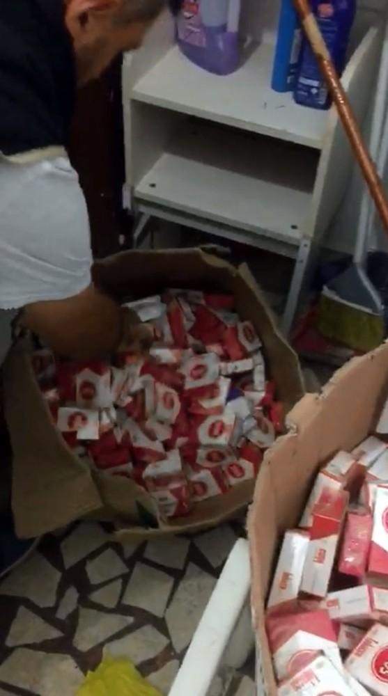 Antalya'da 3 bin 182 paket kaçak sigara ele geçirildi