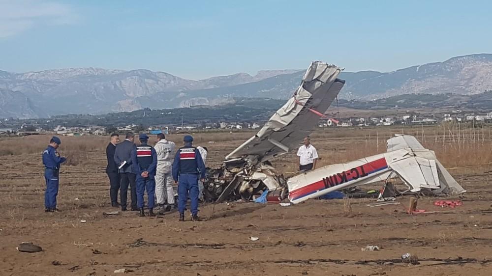 Antalya'da düşen uçakta ilk inceleme tamamlandı
