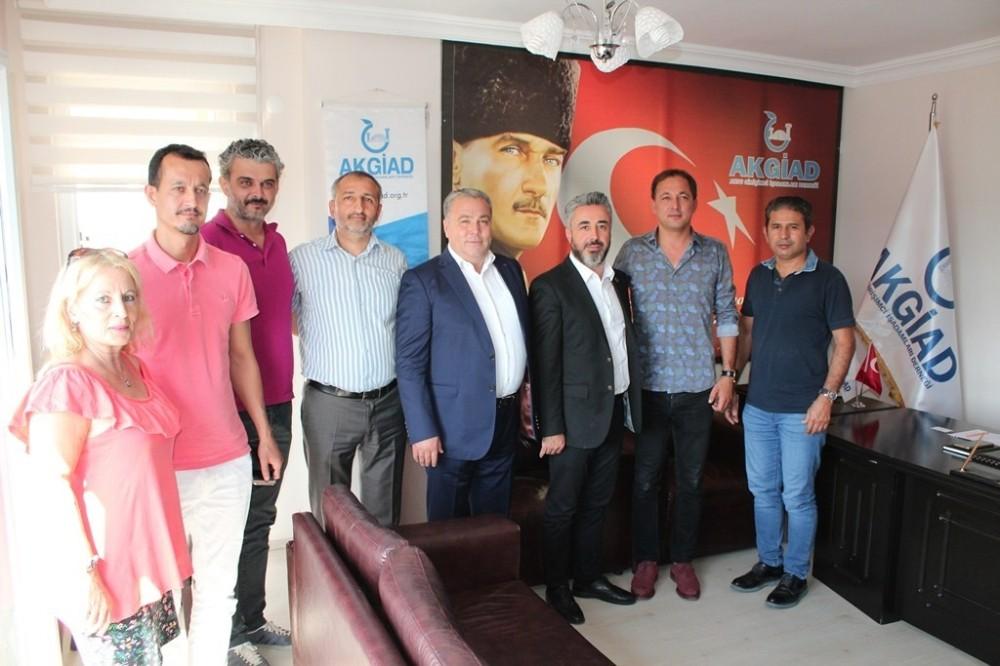 ANTMUDER Başkanı Karataş, AKGİAD'ın misafiri oldu
