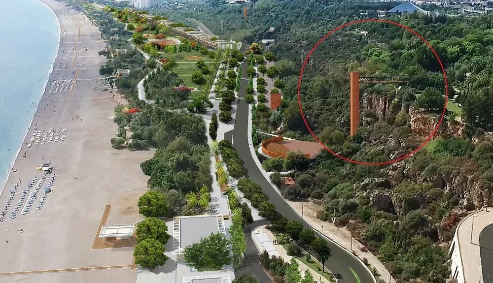 Atatürk Kültür Parkı'ndan sahile asansörle inilecek