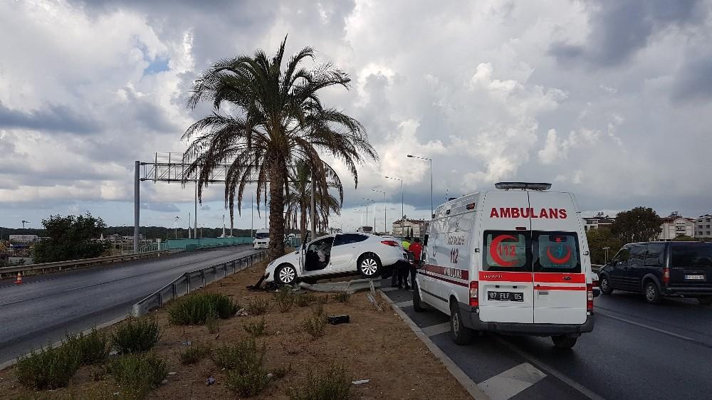 Çevre yolunda kaza ucuz atlatıldı