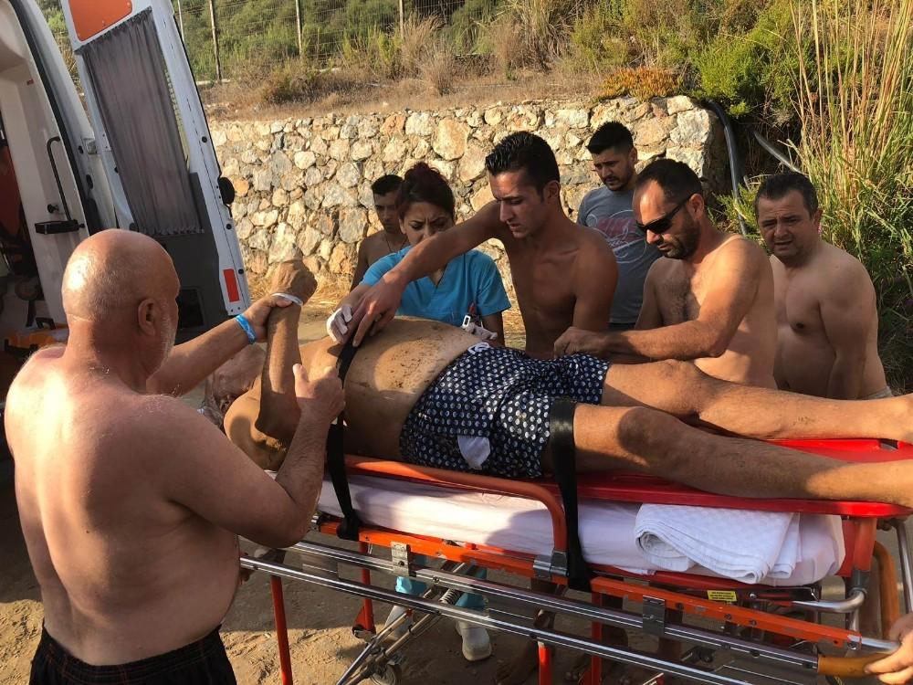 Denizde fenalaşan Rus turisti vatandaşlar kurtardı