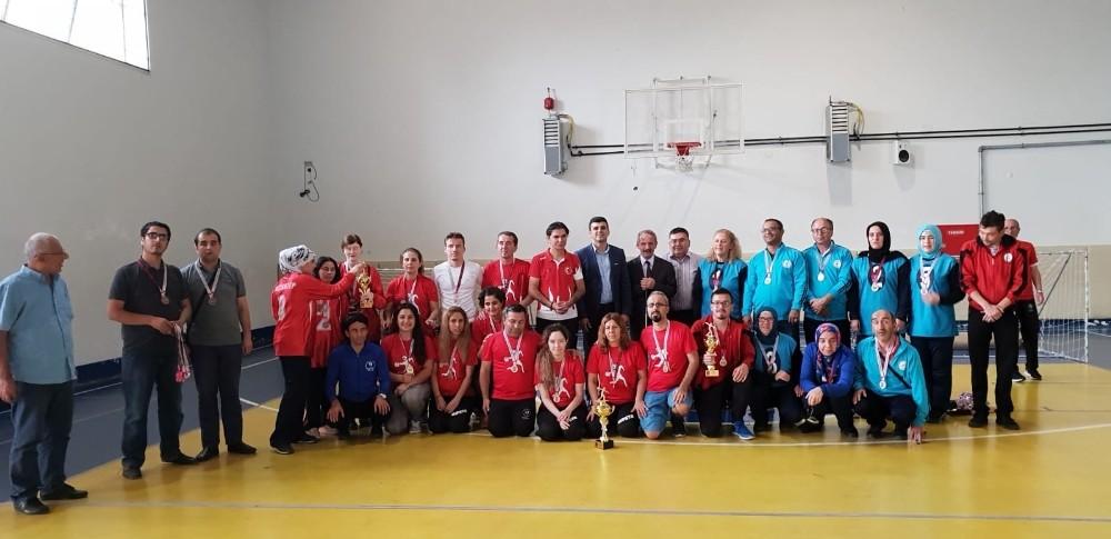 Görme Engelliler Goalball şampiyonası Manavgat'ta yapıldı