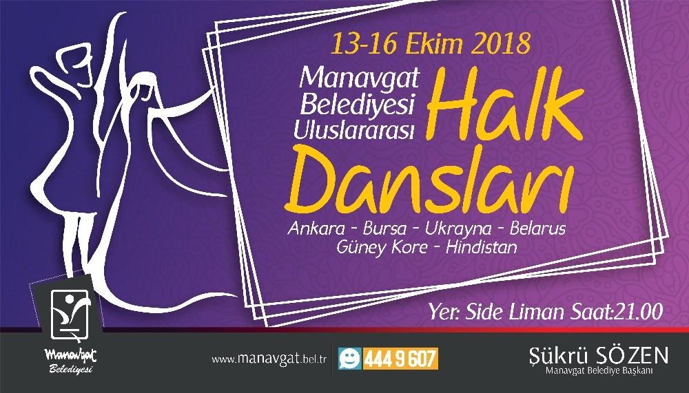 Manavgat Belediyesi'nden uluslararası halk dansları şöleni