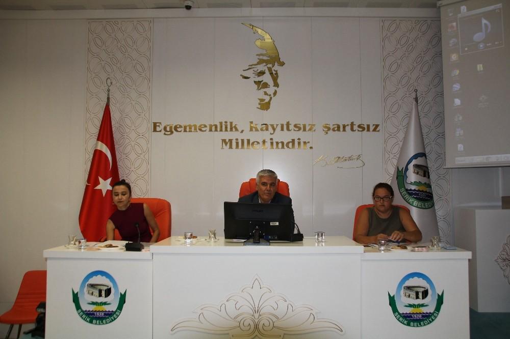 Serik Belediye Meclisi Eylül ayı toplantısı yapıldı