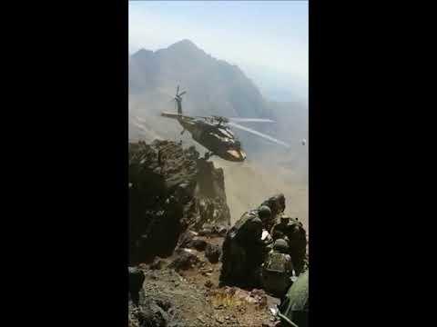 Kahraman pilotlarımızın 3000 m rakımdaki kayalıktan gerçekleştirdiği tahliye.
