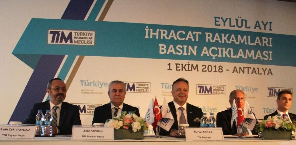 Türkiye'nin Eylül ayı ihracatı 14,5 milyar dolar