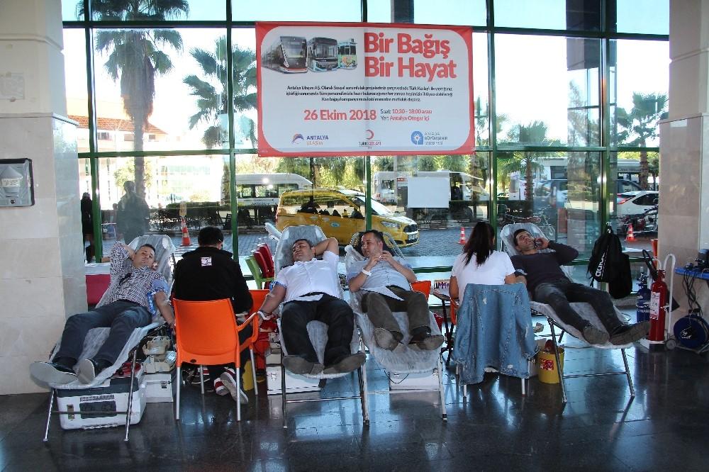 Antalya Ulaşım A.Ş'den kan bağışı