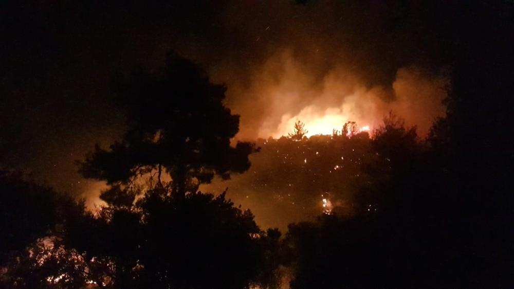 Antalya'da 4 mahalleyi tehdit eden orman yangını