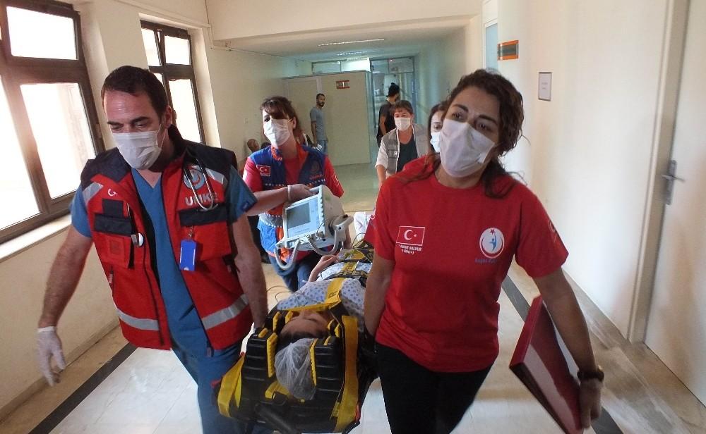 Atatürk Devlet Hastanesinde yangın tatbikatı