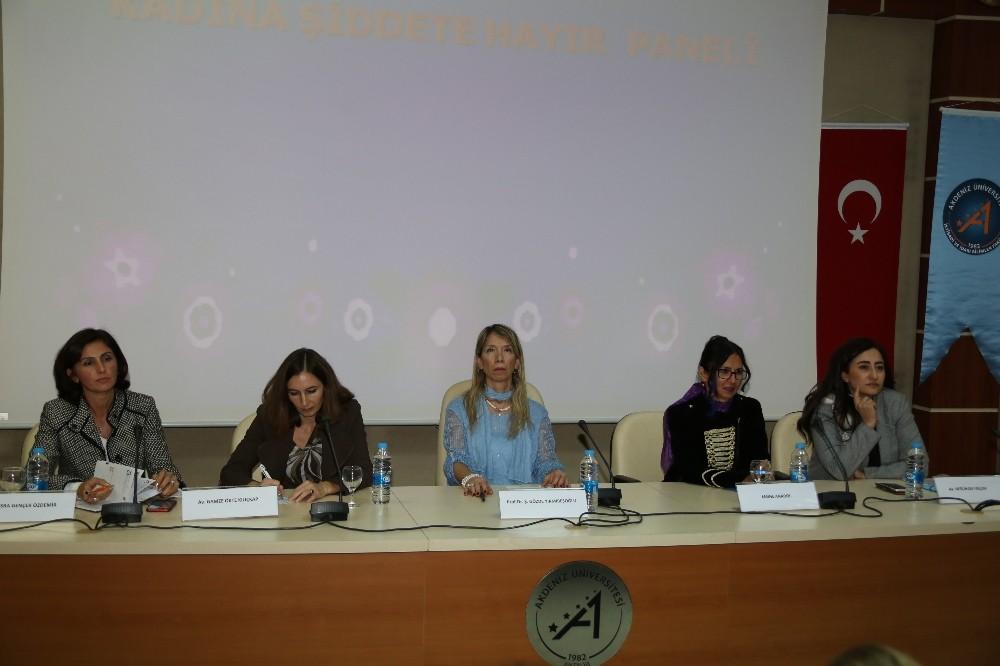 AÜ'de Kadına Yönelik Şiddetle Mücadele konuşuldu